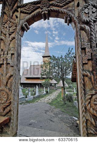 Wood Gate And Church