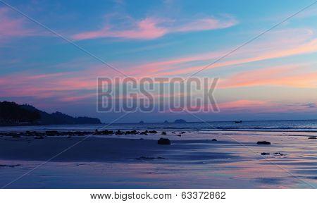 Tropical sea sanset
