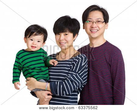 Happy asia family with baby boy