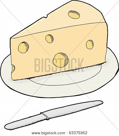Isolated Swiss Cheese