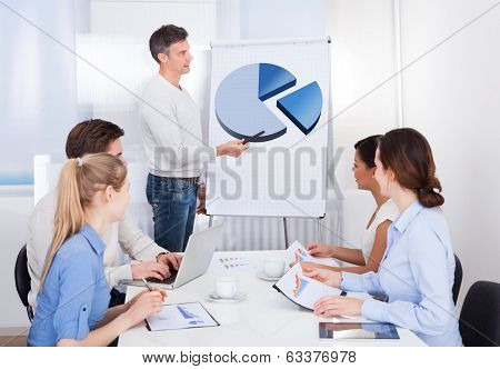 Businessman Giving A Presentation In Meeting