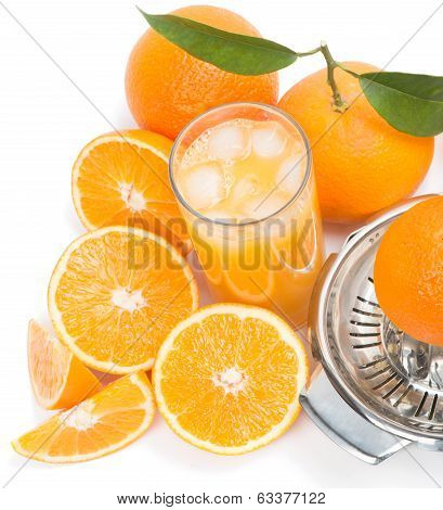 Freshly Squeezed Ice Cold Orange Juice
