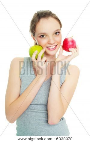 Girl With Two Apples