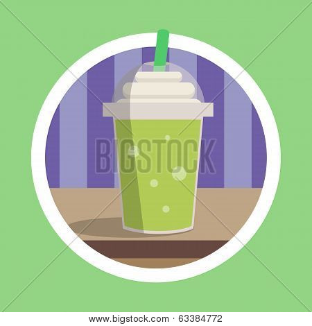 Fresh Green Ice Blend Illustration