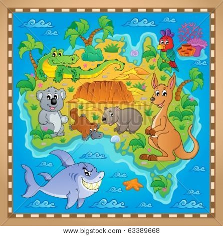 Australian map theme image 2 - eps10 vector illustration.