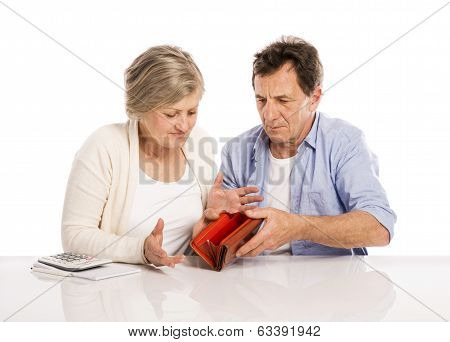 Senior couple in bankrupt