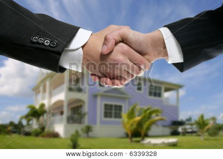 Businessman Real State Handshake Partners