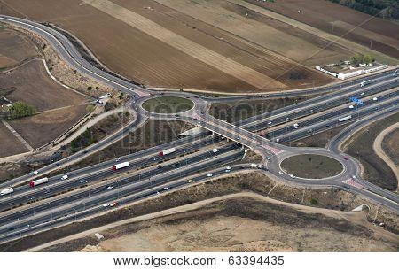 Highway Aerial Madrid