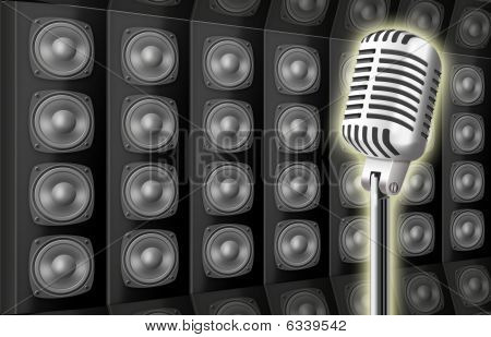 Background From Voice Loud Speakers And Microphone