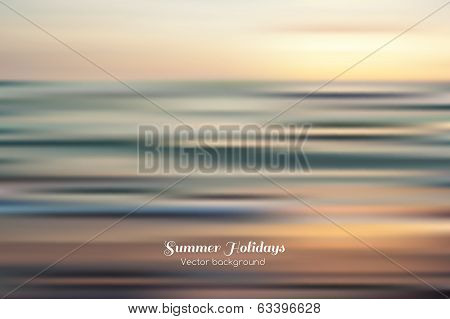 Amazing seascape  vector background