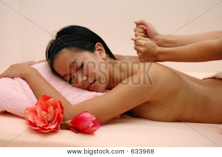 Woman At Spa
