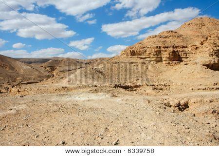 Scenic desert landscape in Shekhoret Canyon near Eilat Israel