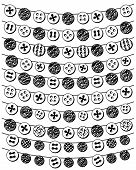 Vector Set of Doodle Style Button Bunting