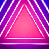 Vector Geometric Background With Triangle