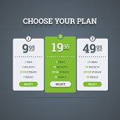 stock photo of comparison  - Pricing plans table - JPG