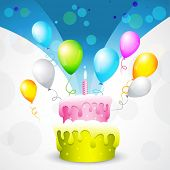 vector beautiful background of birthday