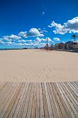 Gandia Beach sand in Mediterranean Sea of Spain at Valencian Community