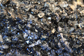 picture of ore lead  - lead crystals background (natural lead texture from nature) ** Note: Shallow depth of field - JPG