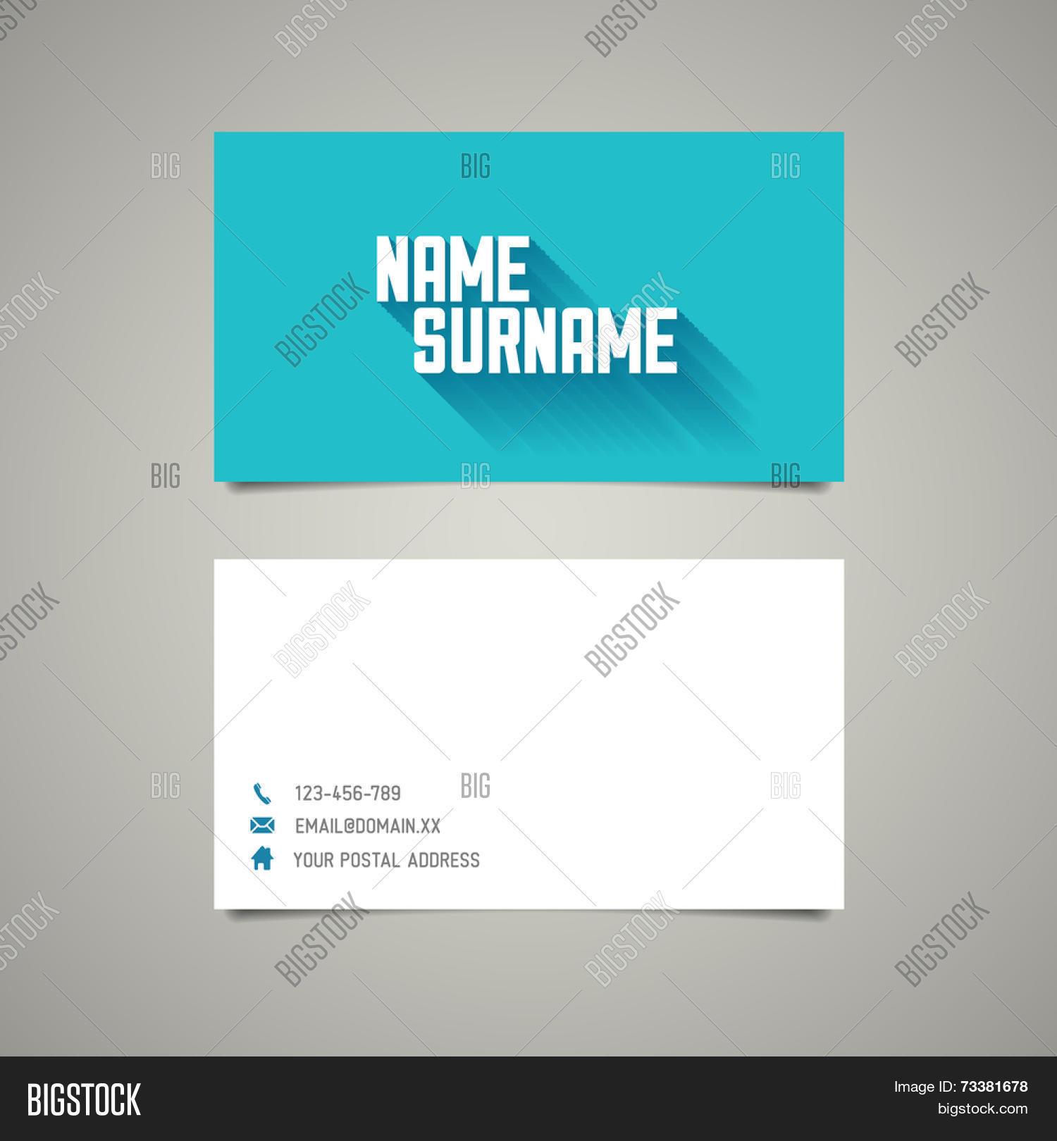 modern simple business card vector photo