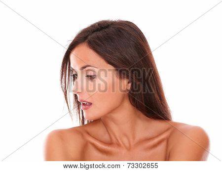 Sensual Female Looking To Her Right