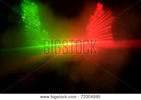 Abstract laser light on black background