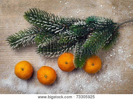 Christmas Decor, Tangerine And Decorations