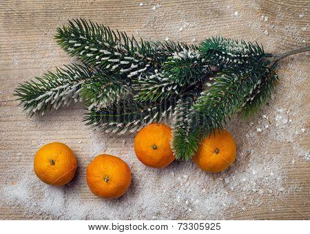 Christmas Decor, Tangerine And Decorations