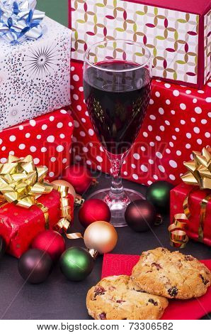 Christmas Cookies, Wine and Presents