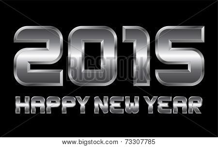 Happy New Year 2015 - Rectangular Beveled Metal Letters