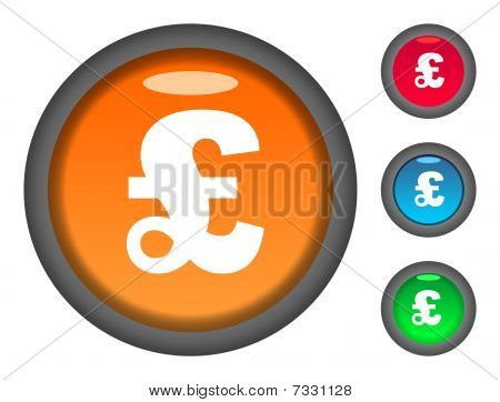 Pound Currency Button Icons