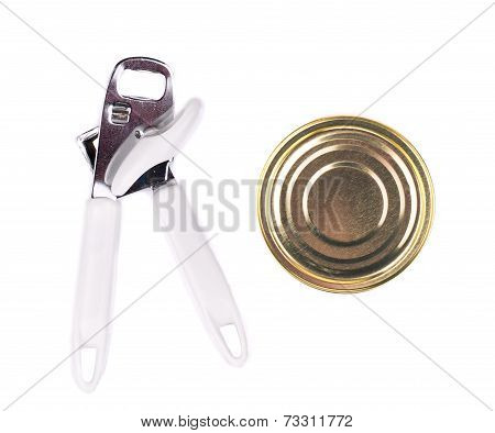 Can and opener close up.