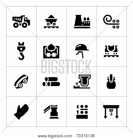 Set Icons Of Metallurgy