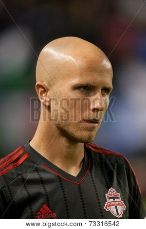 CARSON, CA - OCT 4: Toronto FC midfielder Michael Bradley during the Los Angeles Galaxy MLS game against Toronto FC on Oct 4th, 2014 at the StubHub Center.