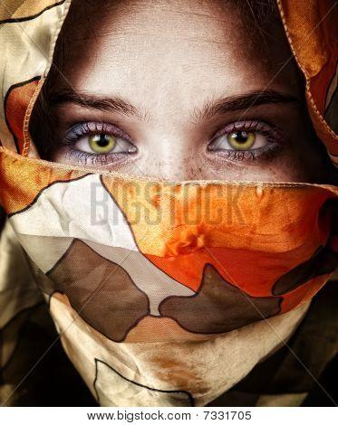 Eyes Of Beautiful Mystery Sensual Woman