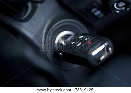 Car Keys In Ignition Keyhole
