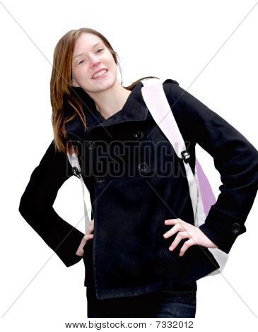 Attractive Female Student