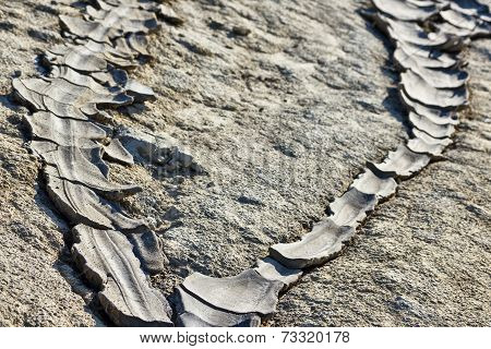 Dried mud lava
