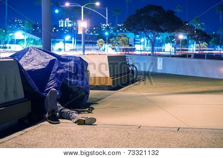 Sleeping Homeless Men