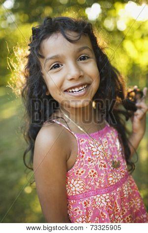 Hispanic girl smiling