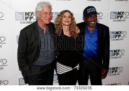 NEW YORK-OCT 5: (L-R) Actors Richard Gere, Kyra Sedgwick & Ben Vereen attend
