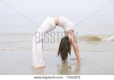 Asian Girl Performing Yoga