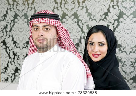 Arabian couple posing
