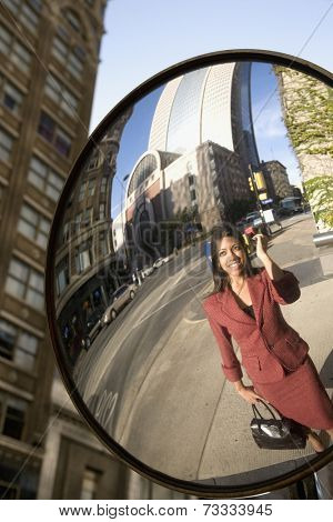 Reflection of Indian businesswoman