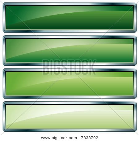Metallic Frame Green
