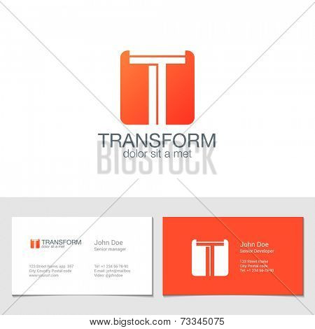 Corporate Logo T Letter company vector design template. Logotype with identity business visit card.