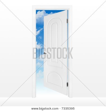Opened Door To Blue Sky