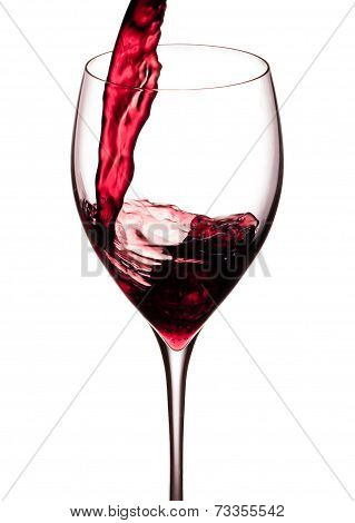 Splash Of A Red Wine Isolated On A White Background