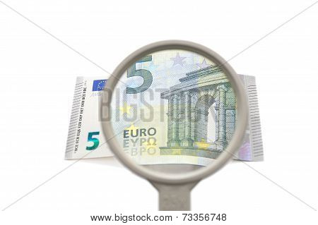 Concept Of Financial Investigation With Magnifier And Money