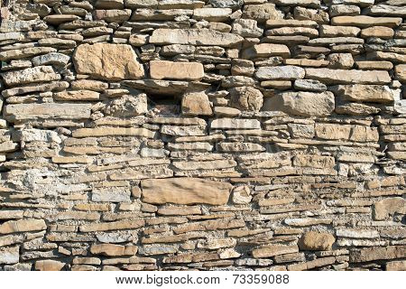 Stone Masonry With Rich And Various Texture