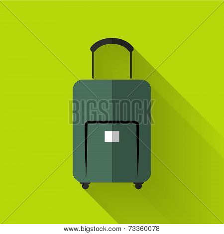 Colorful Flat Design Baggage Icon